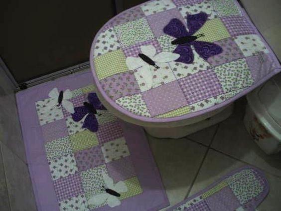 Jogo de Banheiro Patchwork 03 peças | COD. 43583 - Solidarium