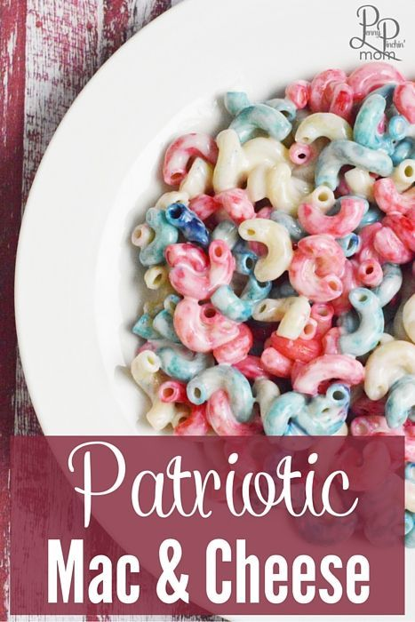 Red White & Blue Mac and Cheese