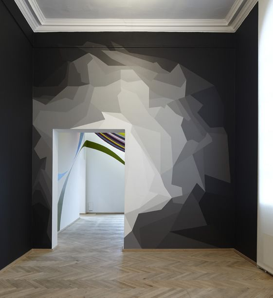 Super fun! This would be a great accent wall. Also it could work in blues, grays, or bluish-purples too .