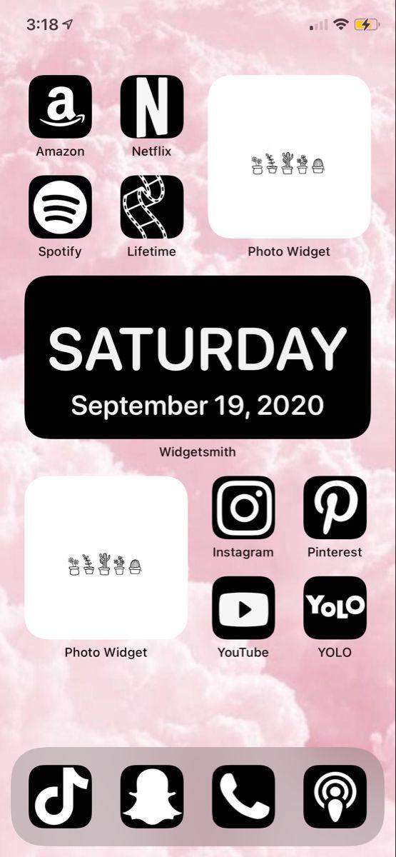 Ios 14 Home Screen Ideas Ios App Iphone Homescreen Iphone Wallpaper App