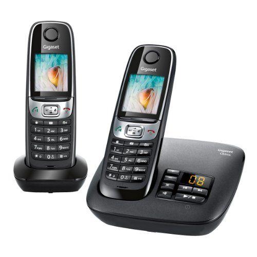 Gigaset C620A Duo - Teléfono fijo inalámbrico con contestador (2 terminales), color negro [Importado de Francia] B00DDJ3G6U - http://www.comprartabletas.es/gigaset-c620a-duo-telefono-fijo-inalambrico-con-contestador-2-terminales-color-negro-importado-de-francia-b00ddj3g6u.html