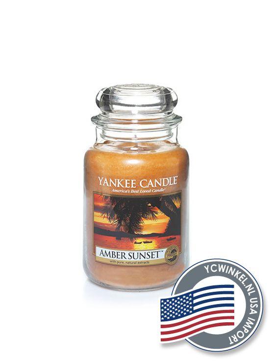 Yankee Candle Amber Sunset Large Jar