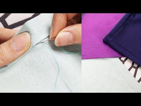 Hola Costureta En Este Tutorial Aprenderas A Hacer Uns Costura Invisible Mano Perfecta Para Que La Costura Cuando H Puntadas A Mano Costura A Mano Como Coser