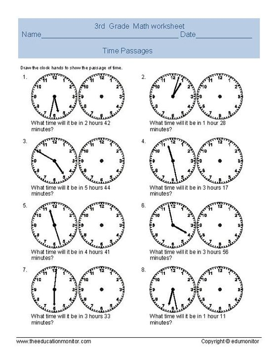 elapsed time worksheets | telling time worksheet for third grade ...