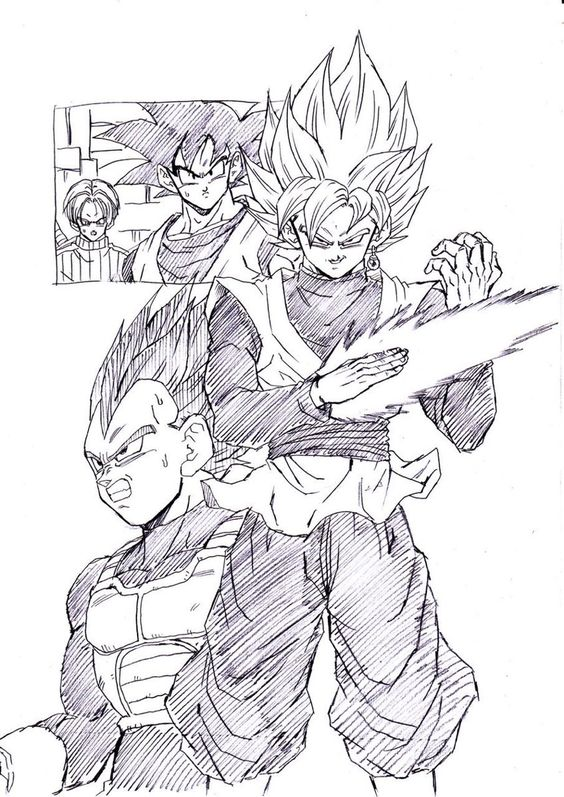 """A black rose."" Drawn by: Young Jijii. Found by: #SonGokuKakarot"