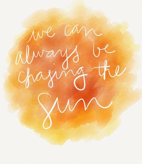 Chasing the Sun - Sara Bareilles: