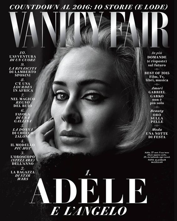#Adele e l'angelo  Prima la ragazza sboccata, poi il successo globale che l'ha «un filino travolta». Oggi, dopo 4 anni, si rifà viva con un nuovo album da record e un «uomo forte» al suo fianco. Il motivo che l'ha spinta a tornare? Un figlio dal nome celestiale. L'intervista di copertina sul numero 51 di Vanity Fair (e in anteprima sul nostro sito: www.vanityfair.it) @adele Foto: @alasdairmclellan #hello #25