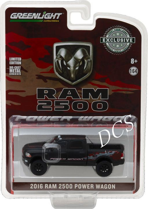 5 9 Greenlight 2016 Ram 2500 Power Wagon Matte Black Hobby Exclusive 1 64 Car 29901 Ebay Collectibles Power Wagon Toy Model Cars Tractor Toy