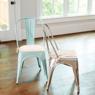 Marian Metal Chairs With Cushions Chairs Without Cushions Either Color Pair