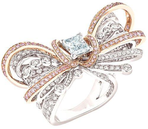 Chanel Diamond Bow Ring