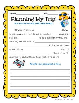 guided writing a place i wish i could go tpt store pinterest places minis and travel. Black Bedroom Furniture Sets. Home Design Ideas