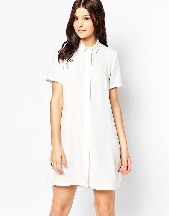 Image 2 - French Connection - Maui - Robe chemise en dentelle
