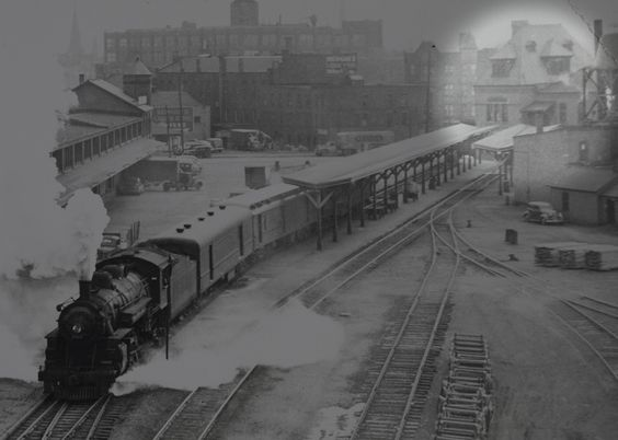 Rochester NY - Steam train at the Baltimore & Ohio Railroad Station (formerly Buffalo, Rochester & Pittsburg Railroad) here  on West Main. You may recognize the station building as Nick Tahou's.: Tahous Restaurant, Pacific Trains, Nick Tahous, Photo Provide, Steam Trains, Today Photo