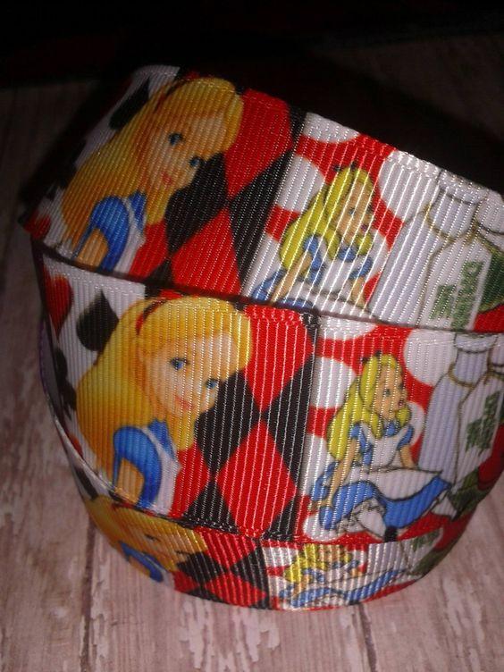 Alice in Wonderland #2 Grosgrain Ribbon by RibbonstoBowsandMore on Etsy