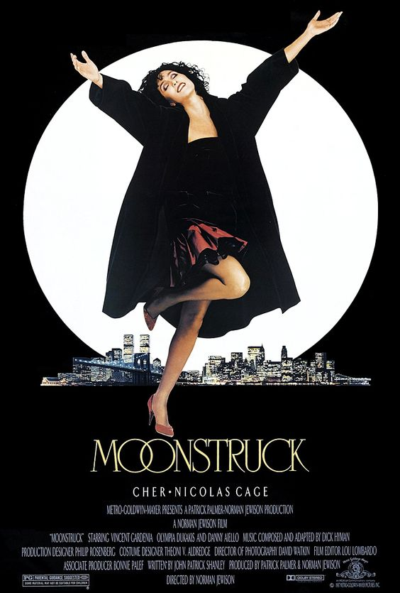 """Moonstruck (1987) """"Aw, ma, I love him awful!"""" Nicholas Cage and Cher. Movie gold."""