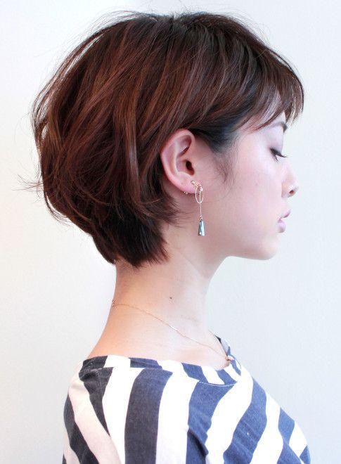 大人の王道ふんわりひし形ショートボブ 髪型ショートヘア ヘア