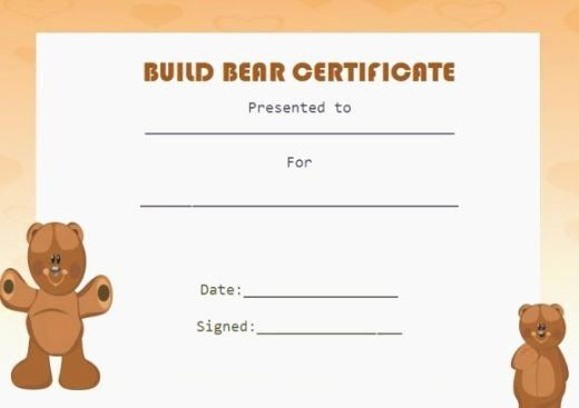 Build A Bear Birth Certificate Template Blank New Top 37 Unusual Printable Build A Bear C Birth Certificate Template Certificate Template Certificate Templates