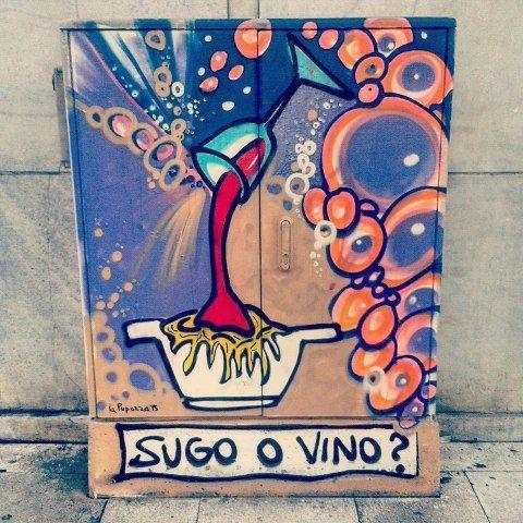 Sugo o Vino? #mistreetartour #milano #repubblica #milano2015 #milanocity #milanodavedere #milanodaclick #milanosiamonoi #milanosegreta #milanomonamour #street #streetart #streetpaint #streetartlovers #streetarteverywhere #streetigers #streetartitalia #streetartitaly #streetartmilano #graffiti #instagraffiti #instagraff #graffitiigers #murales #urbanart #stencilart by mistreetartour