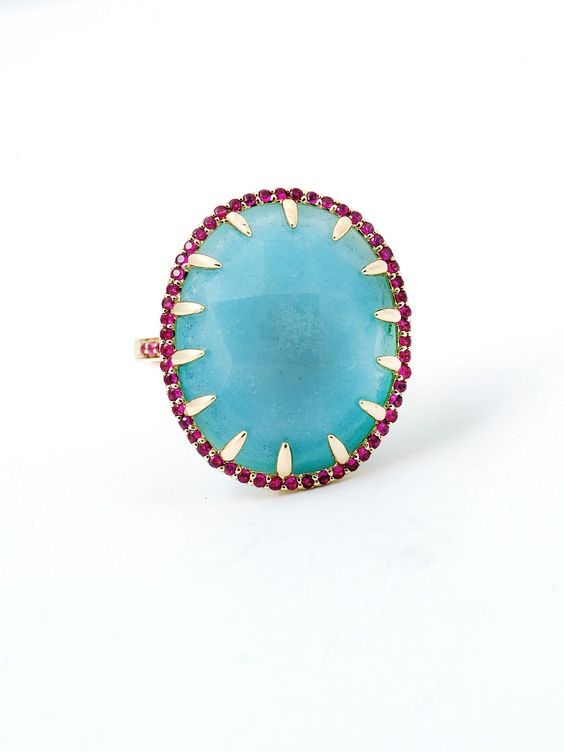 Phillips House 14k Amazonite Ruby Ring at London Jewelers!
