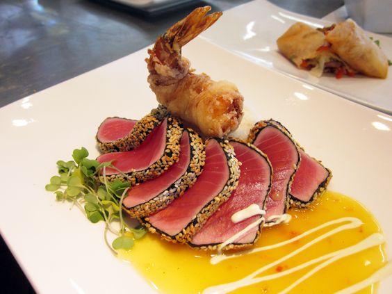 favorite dish in culinary school: Sesame-Crusted Seared Rare Ahi Tuna ...