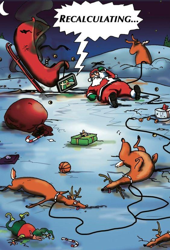 Recalculating Santa.  Holiday Cards from #Walmart.