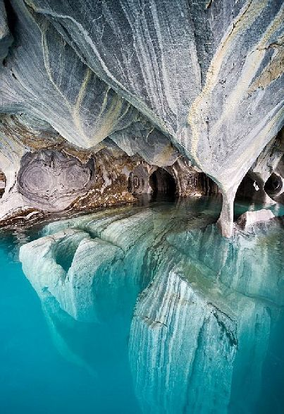 Marble caves in Patagonia: