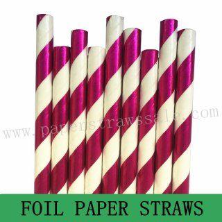 Rose Pink Foil Striped Paper Straws http://www.paperstrawssale.com/rose-pink-foil-striped-paper-straws-500pcs-p-1222.html