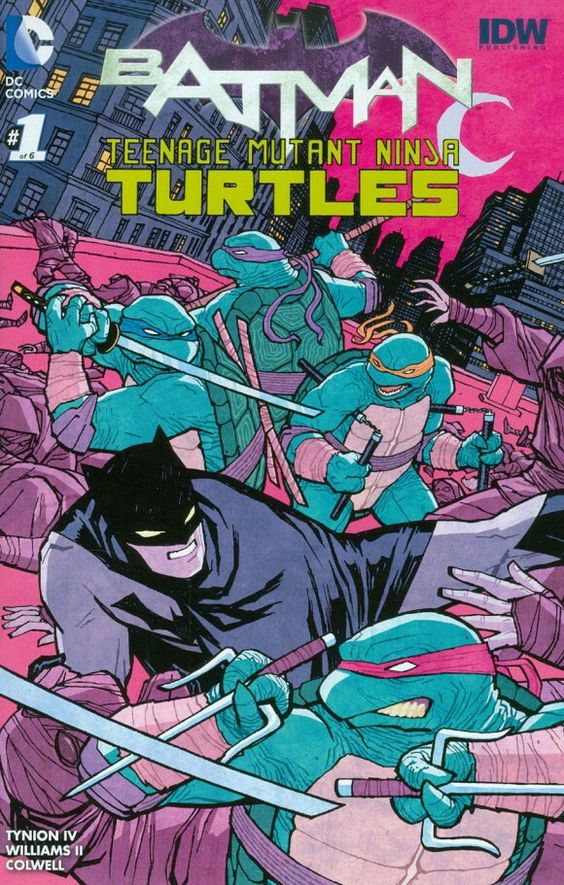 Batman/Teenage Mutant Ninja Turtles #1 variant by Cliff Chiang