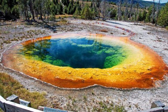 Morning Glory Rainbow Pool, Yellowstone National Park