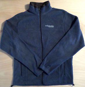 Mens Size M Slate Blue COLUMBIA Field Gear Fleece Jacket, Zip ...