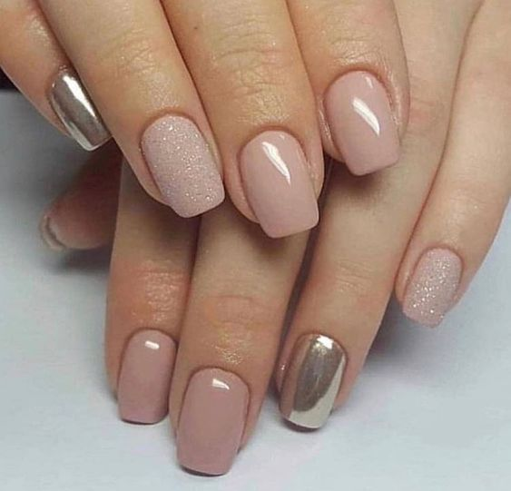 81 Short Nail Design Ideas For Summer 2019 Gold Nails Short