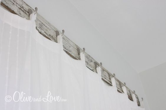 Use hooks instead of a curtain rod to hang curtains...