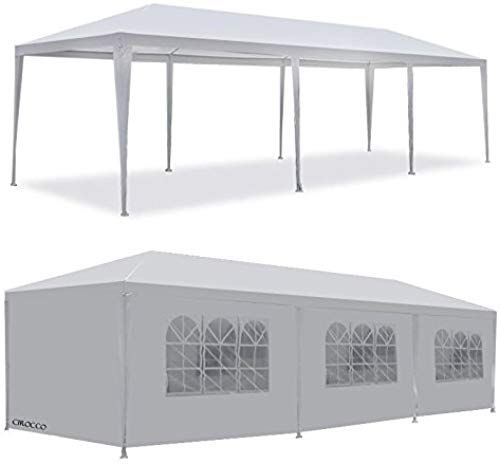 Best Seller Cirocco 10 X30 Party Wedding Tent Outdoor Canopy W 8 Side Wall Removable Large White Gazebo Events Pavilion Screen House Sun Shade Shelter Fully White Gazebo Gazebo Screen House