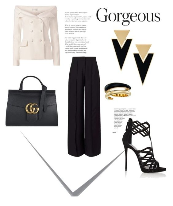 """Gorgeous"" by jaenikque ❤ liked on Polyvore featuring Faith Connexion, Gucci, Giuseppe Zanotti, Miss Selfridge, Yves Saint Laurent, Michael Kors and Post-It"