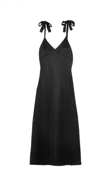 Welcome to the perfect black slip dress.. Wear it alone or with a sweater. Silk Maxi Dress by Reformation