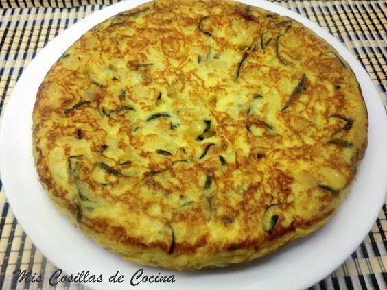 Tortilla de patata cebolla y calabac n ingredientes dos - Tortilla de calabacin y cebolla ...