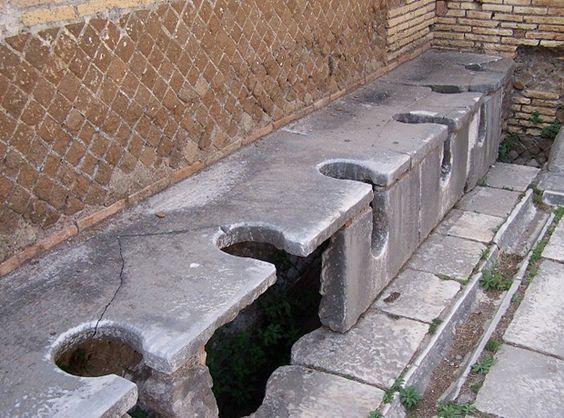 Ancient public toilets in Rome