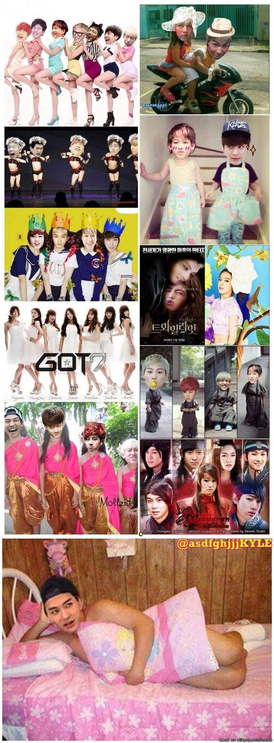 IGOT7's has no chill when it comes to photoshop! WTH fandom? XD | allkpop Meme Center