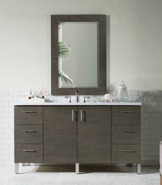 James Martin Metropolitan Single 60 Inch Modern Bathroom Vanity
