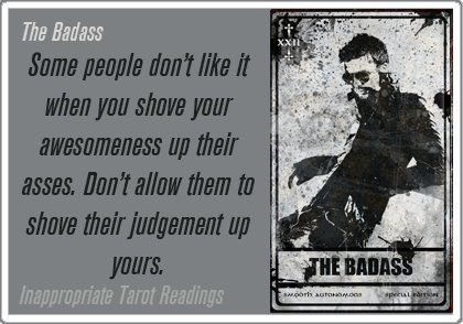 The Badass, revisited - Inappropriate Tarot Readings