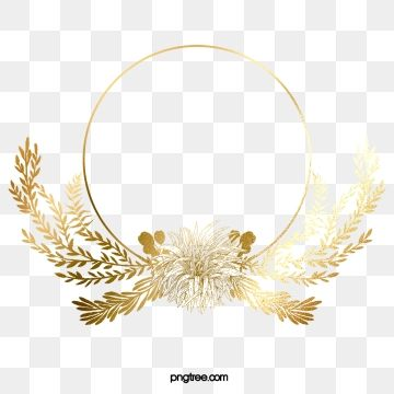 Golden Leaves Shiny Border Golden Leaf Plant Png And Psd Print Design Template Clip Art Borders Islamic Art Pattern