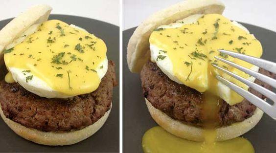 Eggs Benedict Burger.