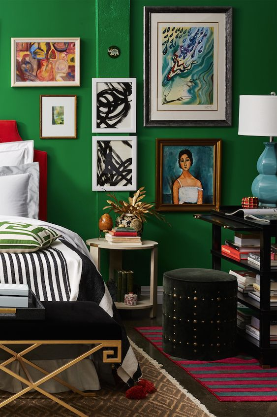 Green Bedroom Decorating Ideas decorating with emerald green - green decorating ideas | hgtv