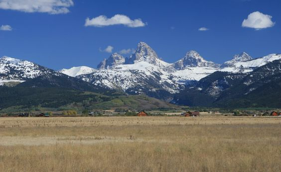 The view of Grand Teton from Driggs, Idaho