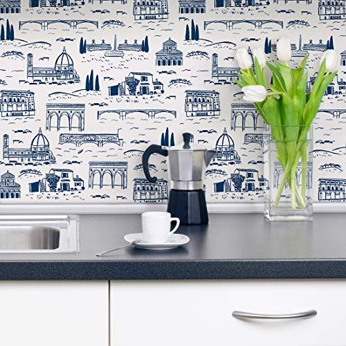 Flipside Firenze Toile Removable Pre Pasted Wallpaper E Https Www Amazon Com Dp B07kcz Peel And Stick Wallpaper Peel And Stick Vinyl Prepasted Wallpaper