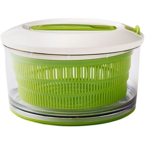 Chef'n SpinCycle Salad Spinner (Green) featuring polyvore, home, kitchen & dining, kitchen gadgets & tools, green, salad spinner and lettuce spinner