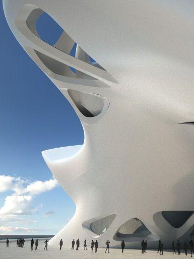 Nuragic & Contemporary Art Museum by Zaha Hadid Architects in Cagliari, Italy