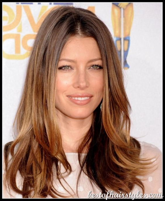 ... hair jessica biel long haircuts blow out classic house straight hair