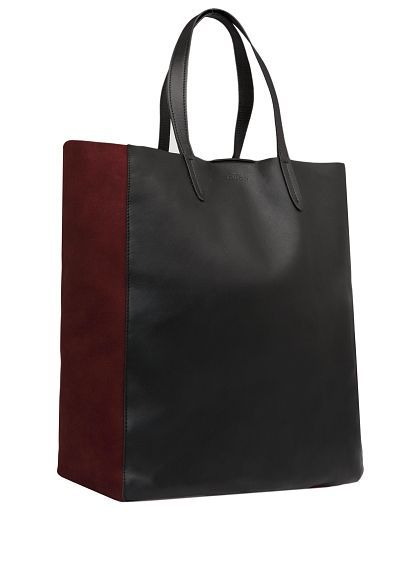 Mango black and red tote