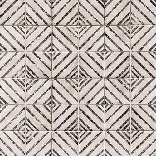 Vivace 4 X Decorative Tile In Rice